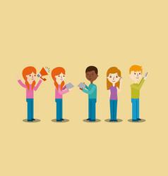 cartoon people icons vector image