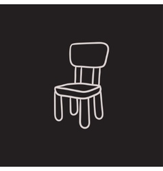 Chair for children sketch icon vector image