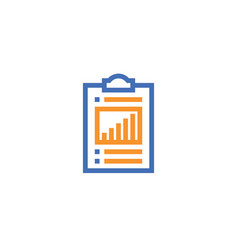 check list outline icon isolated document paper vector image