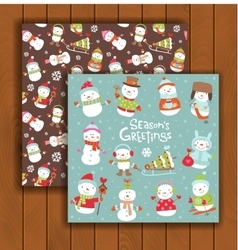 Christmas greeting card with an envelope vector