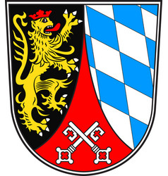 Coat of arms of upper palatinate in bavaria vector