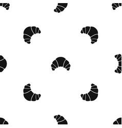 Croissant pattern seamless black vector