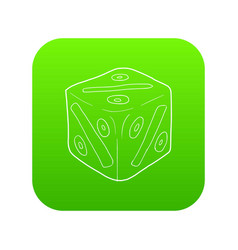 cube with percent icon green vector image