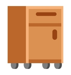 Cupboard isolated vector image