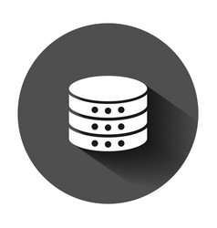data center icon in flat style server on black vector image