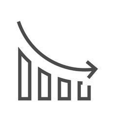 Decrease concept icon vector