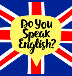Do you speak english vector