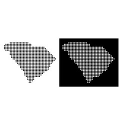 Dotted south carolina state map vector