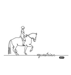 equestrian sport horse show background vector image