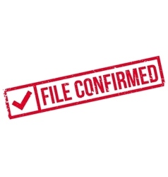 File Confirmed rubber stamp vector