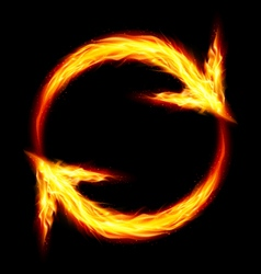 Fire circular arrows vector image