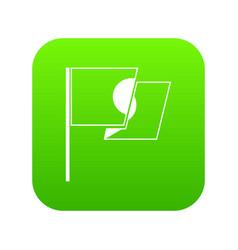 flag of japan icon digital green vector image