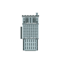 flat business or residential building icon vector image