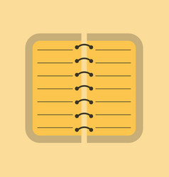 Flat icon on background spiral notepad notebook vector