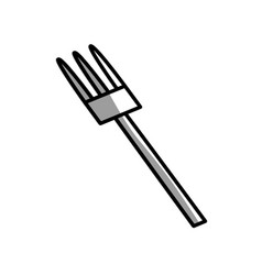 Fork kitchen utensil picnic shadow vector