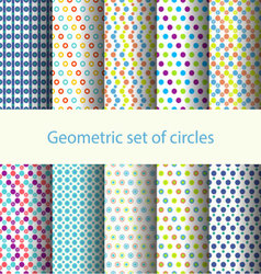 Geometric set of circles vector image