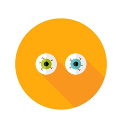 Halloween eyeballs flat icon vector