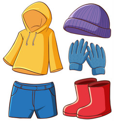 Isolated pictures clothes vector