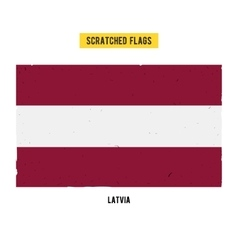 Latvian grunge flag with little scratches on vector image