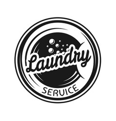 Laundry service emblem in vintage style vector