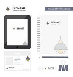 light business logo tab app diary pvc employee vector image