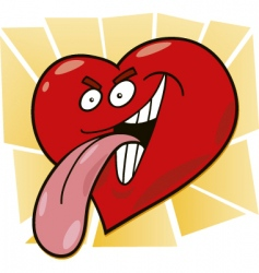 malicious heart vector image
