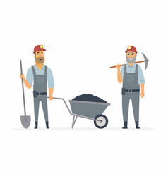 Miners - cartoon people characters vector