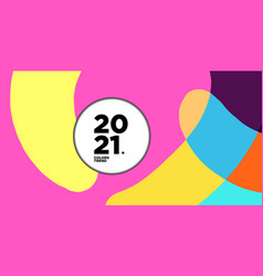 New year 2021 colorful curve and geometric vector