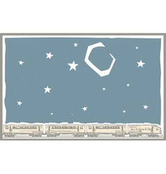 Night Sky Train vector image