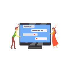 Online dating service or website concept with vector