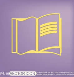 Open book icon vector image