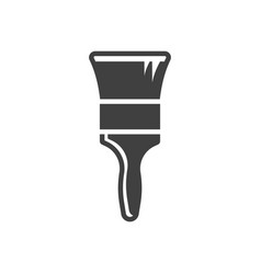 Paint brush icon wide brush on a white vector