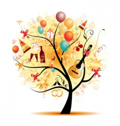 party tree vector image