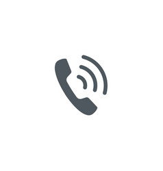 Phone icon handset icon with waves telephone vector