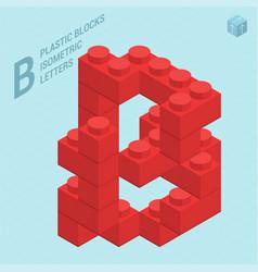plastic blocs e letter b vector image