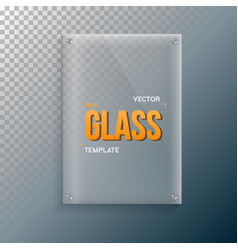 Realistic glass frame template set vector