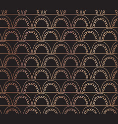 rose gold foil arcs seamless background vector image