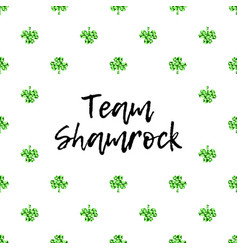 Saint patricks day greeting card with sparkled vector
