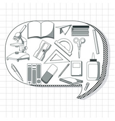School utensils cartoons vector