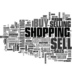 Sell-out word cloud concept vector
