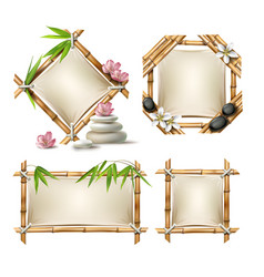 set of bamboo frames vector image