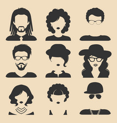 Set of different male and female icons vector