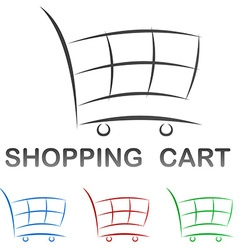 Shopping cart icon design set vector