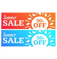 social media summer sale banner vector image