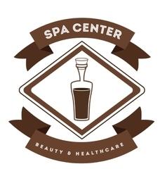 spa center design vector image