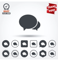 Speech bubbles icon Chat or blogging sign vector image