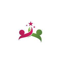 star success people care logo and symbols vector image