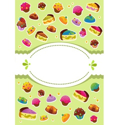 sweet cover menu vector image