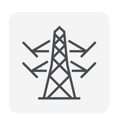 transmission tower icon vector image