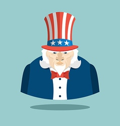 Uncle Sam icon Patriotic American hero USA vector